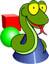 Piirretty iloinen Python-käärme